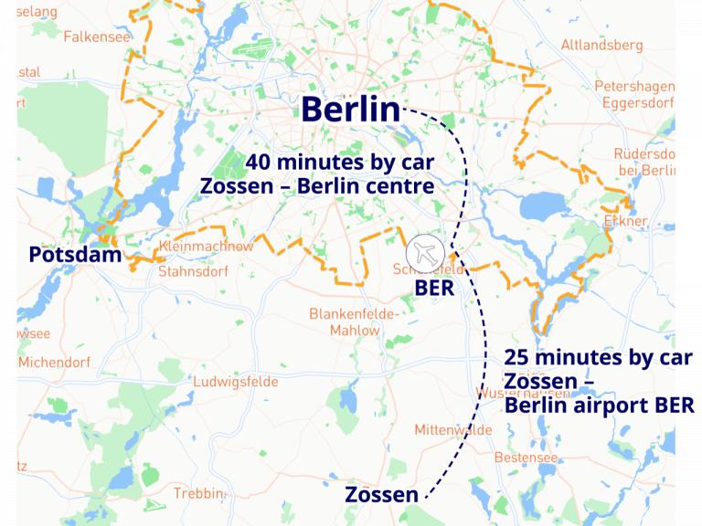 Zossen Berlin Map